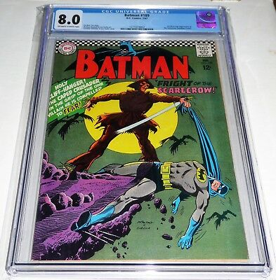 Batman #189 CGC 8.0 1st Silver Age Appearance of the Scarecrow (Jonathan Crane).