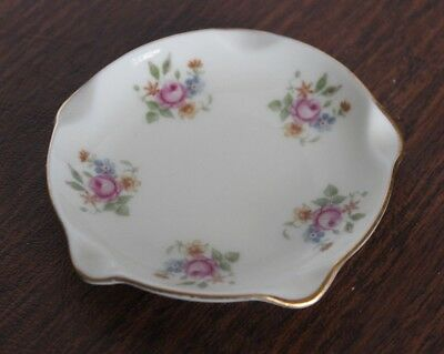 "K&A Krautheim Selb Bavaria Germany Ashtray 3"" Roses"