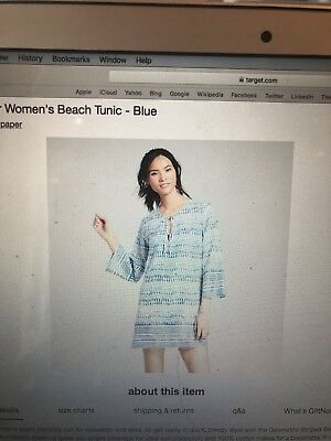 Target Flora By Rockflowerpaper Size Medium Coverup Tunic Brand New