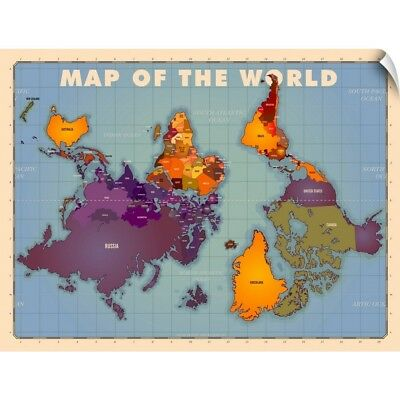 Wall Decal entitled Upside Down Map of the World