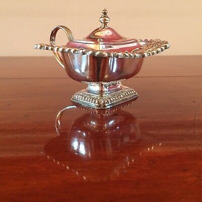Antique Silver Plated Mustard Pot