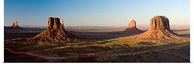 Poster Print Wall Art entitled Cliffs on a landscape, Monument Valley, Monument