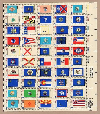 {BJ Stamps} 1633-82   50 State Flags   MNH 13 cent Sheet of 50.   Issued in 1976