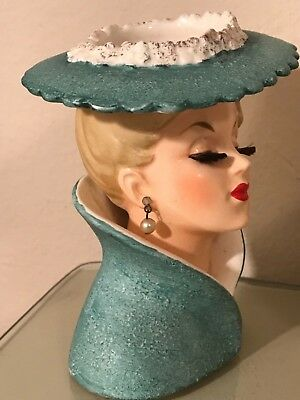 5 34 Porcelain Edwardian Lady Head Vase 11999 Picclick
