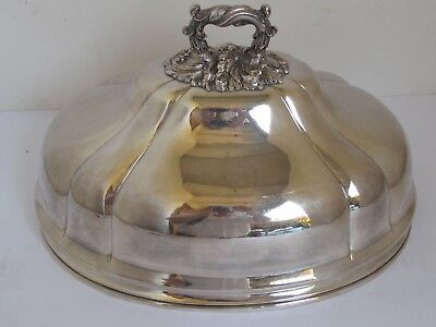 Antique Silver Plated Meat Dome Great Plating and Form