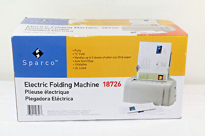 Sparco 18726 Automatic Tabletop Paper Folding Machine - SPR18726