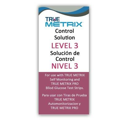 Control Solution Level 3 for TRUE Metrix Meter Exp: 06/2019