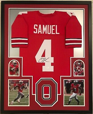 89be13103 Framed Curtis Samuel Autographed Signed Ohio State Buckeyes Jersey Jsa Coa