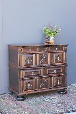 17th Century Jacobean Oak Chest of Drawers.