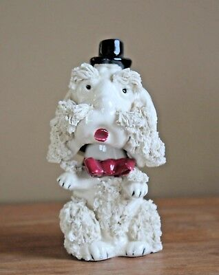 Rare Bobble Nodder Head SPAGHETTI Porcelain POODLE WIRE-HAIRED FOX TERRIER DOG