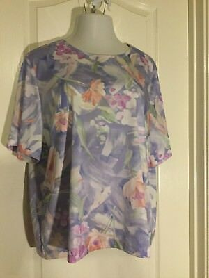 ae5247fa2ad BLAIR 2X PLUS Size Women Top Short Sleeve Blouse NEW -  8.99