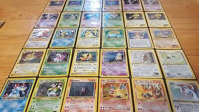 Lot of 50 Original + Neo Genesis/Discovery Vintage Pokemon Cards + 1st Edition