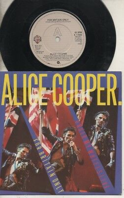 """ALICE COOPER  Rare 1982 UK Only 7"""" Mint OOP L/Edit P/C Single """"For Britain Only"""""""