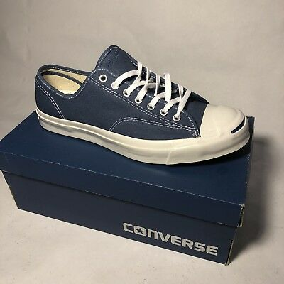 045f4bcf330 UNISEX JACK PURCELL Signature Ox Converse True Navy White Size Men ...