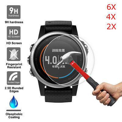 2/4/6PCS 9H+ Tempered Glass Screen Protector Film for Garmin Fenix 5/5S/5X GPS