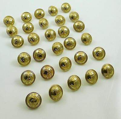 30 French Vintage Navy Military Brass Gilt Button T W & W 20mm Paris Anchor NOS