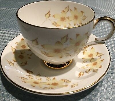 Vintage Crown Staffordshire Fine Bone China Cup & Saucer Set England *