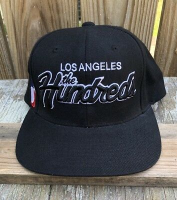 The Hundreds Los Angeles Black Team Snapback Hat Cap Adam Bomb New 43764c367ced