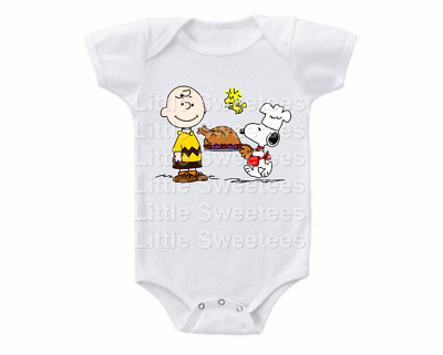 Snoopy and Charlie Brown Thanksgiving Onesie Shirt