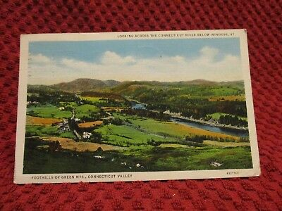 1936. Foothills Of Green Mts. Connecticut Valley. Postcard