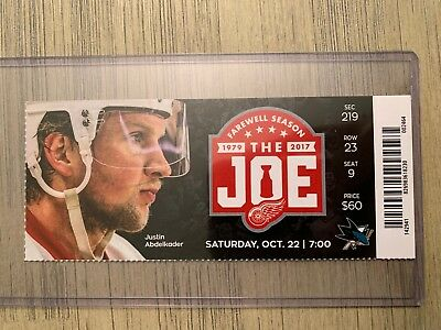 2016-17 Detroit Red Wings NHL Official Mint Ticket Stubs - pick any game!