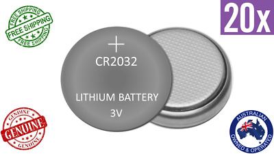 GENUINE 20pack 3V CR2032 Button Coin BATTERY LITHIUM CELL 5004LC DL2032 ECR2032