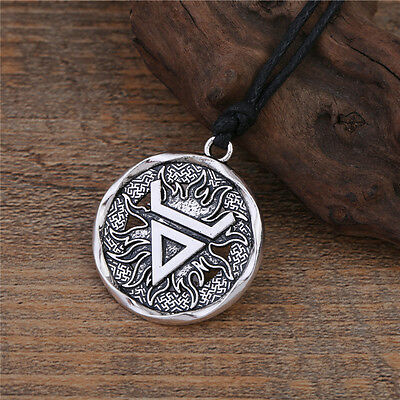 Veles Symbol Ancient Slavic Pendant Necklace Wealth Pagan Talisman Amulet Men