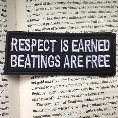 Respect Is Earned   Army Morale Milspec Tactical Military Badge Patch