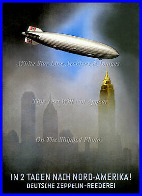 Poster Print: Full Color: Hindenburg Over Nyc Ad