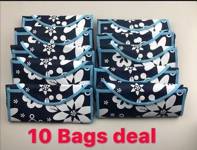 10pc Reusable Foldable Shopping Bags Eco Grocery Carry Bag Storage Tote Handbags
