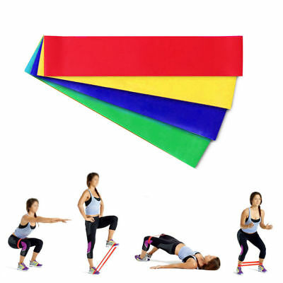 Set of 4 Resistance Loop Exercise Yoga Bands Workout Fitness Training CrossFit