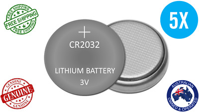 GENUINE 5pack 3V CR2032 Button Coin BATTERY LITHIUM CELL 5004LC DL2032 ECR2032