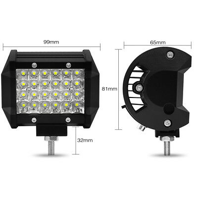 """4"""" 72W 200W LED Work Light Bar Flood Combo Pods Driving Off-Road Tractor 4WD 12V"""