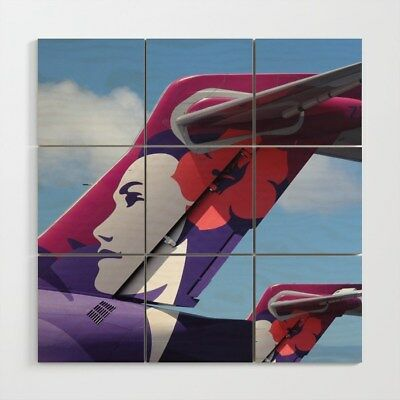 Hawaiian Airlines Boeing 717 tails - 3' x 3' Wood Wall Art