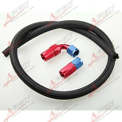 Nylon Cover Braided -10 AN10 Oil Fuel Gas Line Hose 3M + Swivel Hose End Fitting