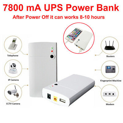 Mini UPS 12V 7800mAh Battery Emergency Power Backup Time For CCTV System Modem A
