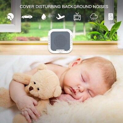 White Noise Sound Machine Rechargeable Timed Led Night Light Sleep Therapy 2018