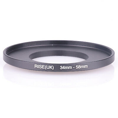 RISE(UK) 34mm-58mm 34-58 mm 34 to 58 Step Up Ring Filter Adapter black
