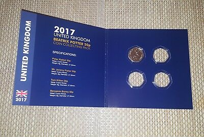 Uncerculated Beatrix Potter 2017 50p Collecting Pack with one coin Peter Rabbit