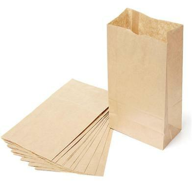 50pcs Brown Quality Paper Food Bags Strung  Takeaway  Catering !