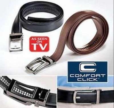 HOT New Comfort Click Belt for Men Black or Brown As Seen on TV