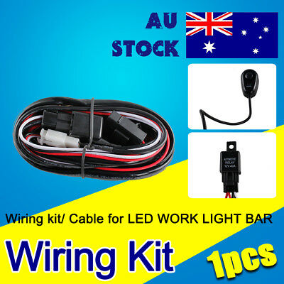 Wiring Harness Kit Relay Switch Fuse For HID LED Driving 3m for lightbar=120w