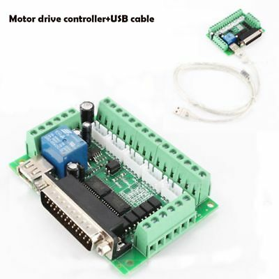 Motor Driver With USB Cable Optical Coupler 5 Axis CNC MACH3 Breakout Board