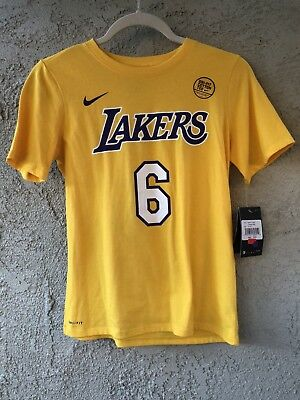 2a6015d38 NBA Lakers Nike Dry Clarkson Jordan  6 Shirt Size M 10-12 Yellow White