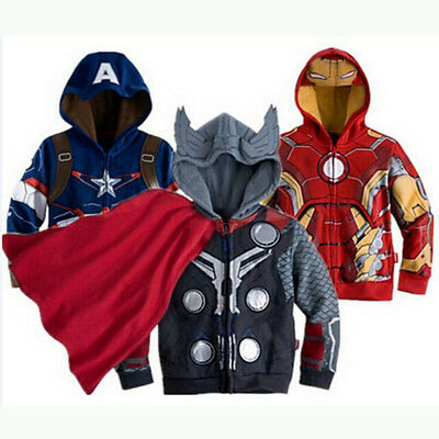 Cosplay Iron Man Spiderman Kids Toddler Baby Boys Clothes Jacket Outerwear coat