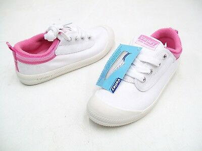 Dunlop Volleys Volley International Girls Casual Trainers Shoes White Pink