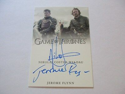 Game of Thrones Valyrian Steel N. Coster-Waldau & Jerome Flynn Dual Autograph