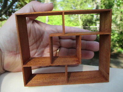 Dollhouse Miniatures Deanna Susanne Russo ~ Scandinavian Square Shelf Unit, #3