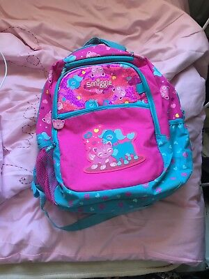 S Smiggle Pets Backpack With Matching Lunch Bag And