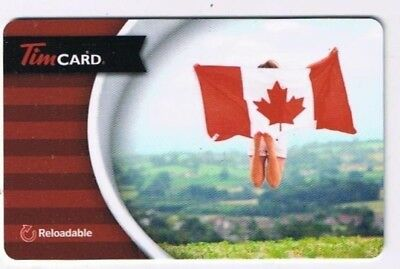 Tim Horton's 2015 Timcard Gift Card Canadian Flag No Value 2015